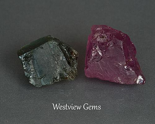 Sapphire and Garnet Rough