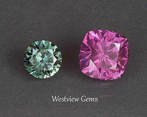 Sapphire and Garnet Gems