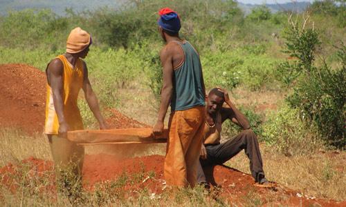 Color change garnet mine in Africa
